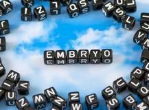 El embrión de la palabra foto de archivo libre de regalías