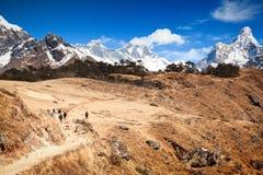 El emigrar en Solu Khumbu Imagen de archivo libre de regalías