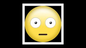 El Emoticon con las cejas aumentó y ambos ojos ensanchados libre illustration