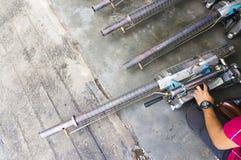 El empañarse trabaja a máquina el equipo para utilizar para el mosquito del aedes de las matanzas Foto de archivo