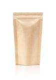 El empaquetado en blanco recicla la bolsa del papel de Kraft Foto de archivo libre de regalías
