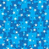 El emparejamiento del rompecabezas Stars Pattern_eps inconsútil Fotos de archivo