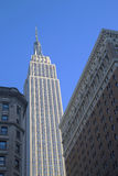 El Empire State Building se cierra para arriba en Nueva York Imágenes de archivo libres de regalías
