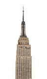 El Empire State Building se destaca contra el cielo blanco plano Fotografía de archivo