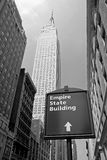 El Empire State en New York City Imagenes de archivo