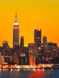 El Empire State y la Manhattan Foto de archivo libre de regalías
