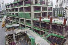 Emplazamiento de la obra de edificios en el capital Foto de archivo libre de regalías