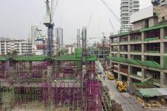 Emplazamiento de la obra de edificios en el capital Imagen de archivo libre de regalías