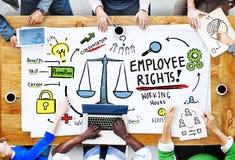 El empleado endereza la igualdad Job People Meeting Concept del empleo Fotos de archivo libres de regalías