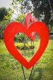 El en forma de corazón en el jardín Imagen de archivo