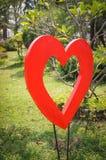 El en forma de corazón en el jardín Fotos de archivo