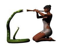El encantar de la serpiente Fotos de archivo