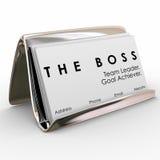 El encargado Presidente Executive Leader de Boss Business Card Holder Imagen de archivo