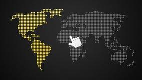 El encender (con.) mapa del mundo ilustración del vector