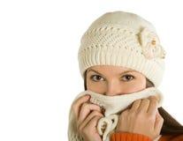 El enfermo de la mujer de una gripe Imágenes de archivo libres de regalías