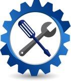 El engranaje equipa el logotipo libre illustration