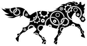 El engranaje rueda adentro el caballo stock de ilustración