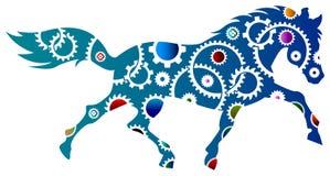 El engranaje rueda adentro el caballo libre illustration