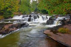 El enlace cae cascada en Michigan Foto de archivo libre de regalías