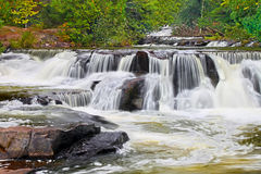 El enlace cae cascada en Michigan Fotografía de archivo