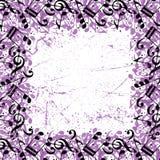 El enmarcar colorido del vector con las notas musicales negras Foto de archivo libre de regalías