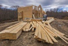 El enmarcar de la construcción de la nueva casa Imagenes de archivo