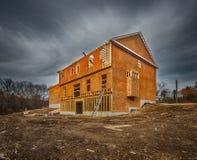 El enmarcar de la construcción de la nueva casa Imágenes de archivo libres de regalías