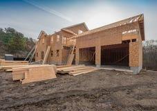 El enmarcar de la construcción de la nueva casa Foto de archivo libre de regalías