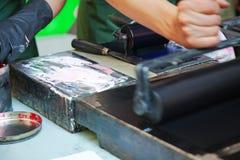 El entintar e impresión Foto de archivo libre de regalías