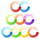 El entrelazar abstracto circunda el sistema de elemento con 3 la variación 2, 3 libre illustration
