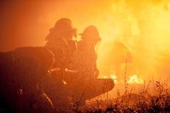 El entrenamiento del bombero Imágenes de archivo libres de regalías