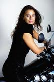 El entrenamiento del jinete de la motocicleta Imagenes de archivo