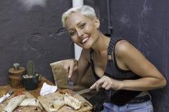 El entusiasmo del almuerzo Imagenes de archivo