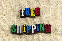 El envío gratis empaqueta la empresa de productos de consumo fotos de archivo