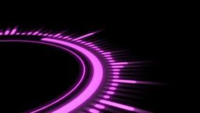 El equalizador que pulsa suena la luz de neón rosada en un fondo negro almacen de video