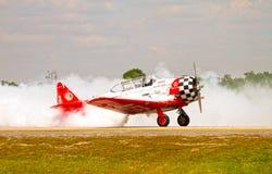 El equipo aeroacrobacia de Aeroshell Fotografía de archivo