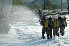 El equipo de bomberos Imágenes de archivo libres de regalías