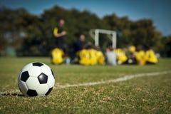 El equipo de fútbol Foto de archivo libre de regalías