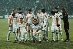 El equipo de fútbol COMO de Roma Imagenes de archivo