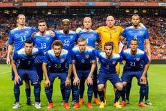 El equipo de fútbol de la nación de los E.E.U.U. Fotos de archivo libres de regalías