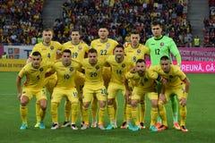 El equipo de fútbol rumano Fotografía de archivo libre de regalías
