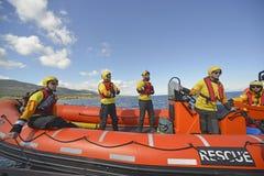El equipo de rescate abierto español de los brazos del ngo Proactiva Imagen de archivo libre de regalías