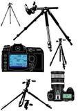 El equipo del fotógrafo Fotografía de archivo