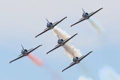 El equipo del jet del patriota Fotografía de archivo libre de regalías