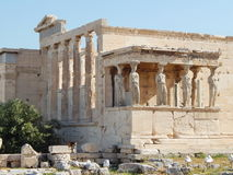 El Erechtheion - un templo del griego clásico en la acrópolis Fotografía de archivo libre de regalías