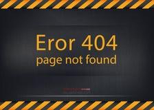 El error 404 del vector no encontró el fondo ilustración del vector