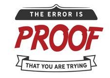 El error es la prueba que usted está intentando imagen de archivo libre de regalías