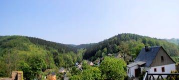 El Erzgebirge en la primavera Foto de archivo