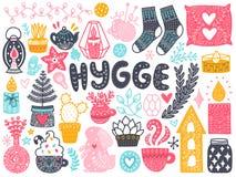 El escandinavo garabatea elementos stock de ilustración