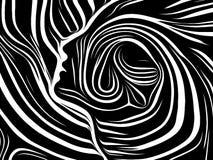El escape de líneas internas ilustración del vector